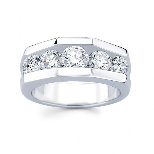 2.5ct Men's Round Diamond Band