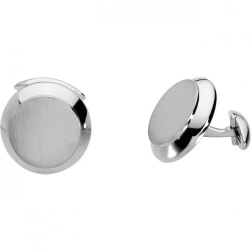 14K White Men's Cuff Links