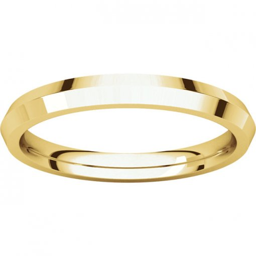 14K Yellow Gold 2.5mm Comfort Classic Knife Edge Wedding Band