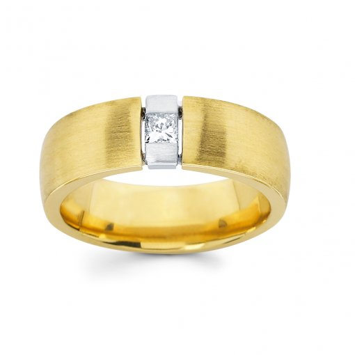 0.25ct Men's Princess Diamond Band