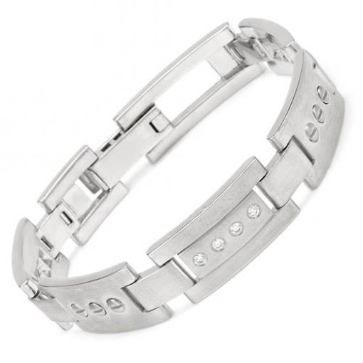 0.60ctw Men's High Quality diamond bracelet in 14k white gold