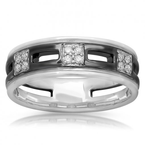 0.19ct Men's Round Diamond Band