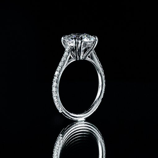 3.66ct GIA Round 18K White Gold