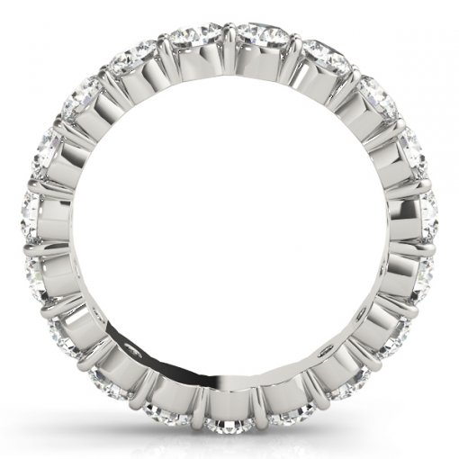 3.0 TCW Round Diamond Double Prong Set Eternity Band in Platinum (G-H COLOR, VS2-SI1 CLARITY)