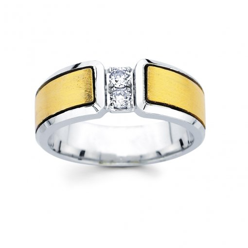 0.2ct Men's Round Diamond Band