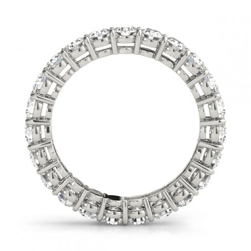 2.5 TCW Round Diamond Open Gallery Shared Prong Set Eternity Band in Platinum (G-H COLOR, VS2-SI1 CLARITY)