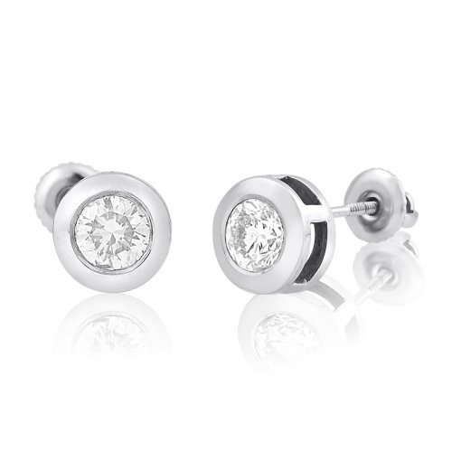 0.5CT  Round Earring (0.50 I1/H) H/I1 ()