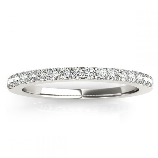 0.26ctw Shared Prong Pave Set Wedding Ring