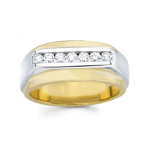 0.45ct Men's Round Diamond Band