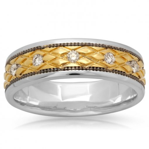 0.17ct Men's Round Diamond Band