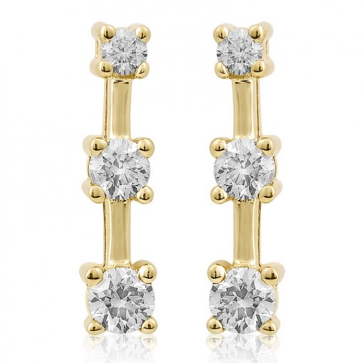 0.75CT  Round Earring (0.75 SI3-I1/-G-H) G-H/SI3-I1 ()