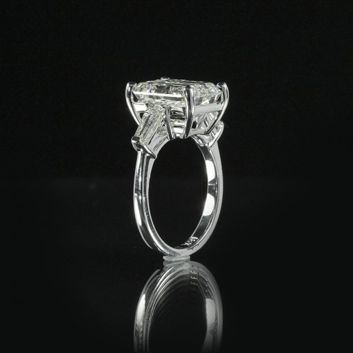 1.51ct GIA  18K White Gold Emerald Cut Diamond Engagement Ring F/SI1