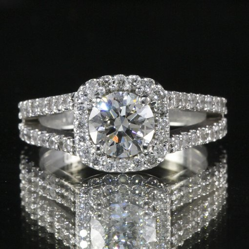 2.1ct GIA  18K White Gold Round Cut Diamond Engagement Ring G/VS1