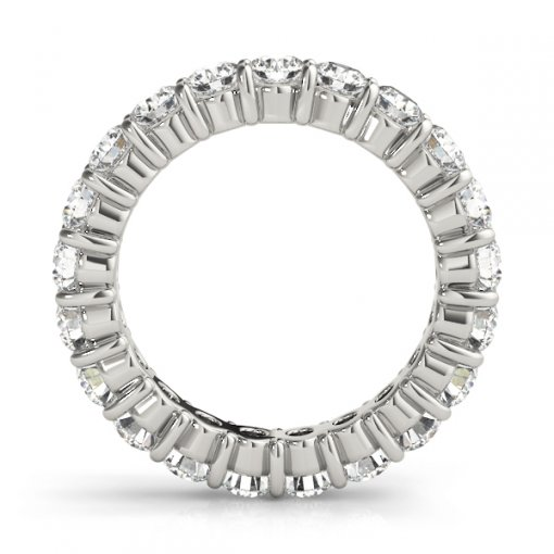 2.5 TCW Round Diamond Open Gallery Shared Prong Set Eternity Band in Platinum (F-G COLOR, VS2 CLARITY)