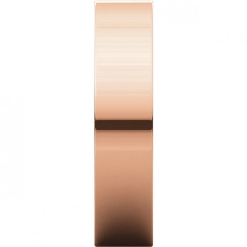 14K Rose Gold Gold 5mm Comfort Flat Classic Wedding Band