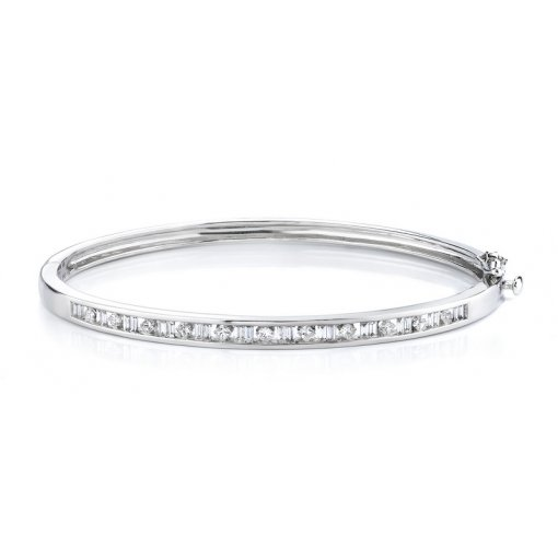 0.92ctw Women's diamond bracelet in 14k white gold