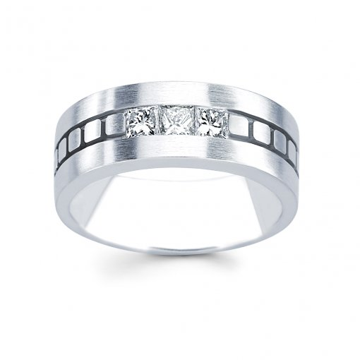 0.75ct Men's Princess Diamond Band