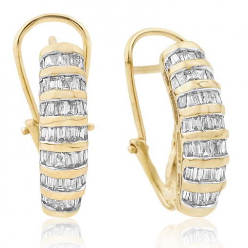 1CT  Baguette Earring (1.00 SI1-SI2/-G-H) G-H/SI1-SI2 ()