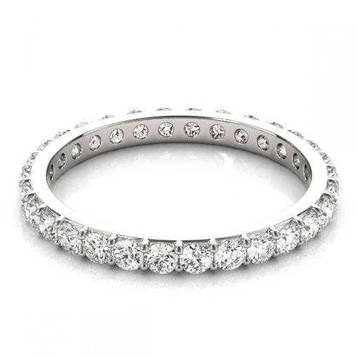 2.0 TCW Round Diamond Flat Prong Set Eternity Band in Platinum (G-H COLOR, VS2-SI1 CLARITY)