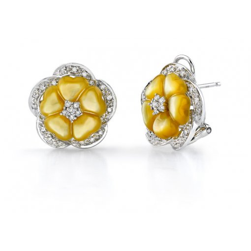 0.38CT   Earring (0.38 SI1/-G-H) (Mop Yellow) / ()