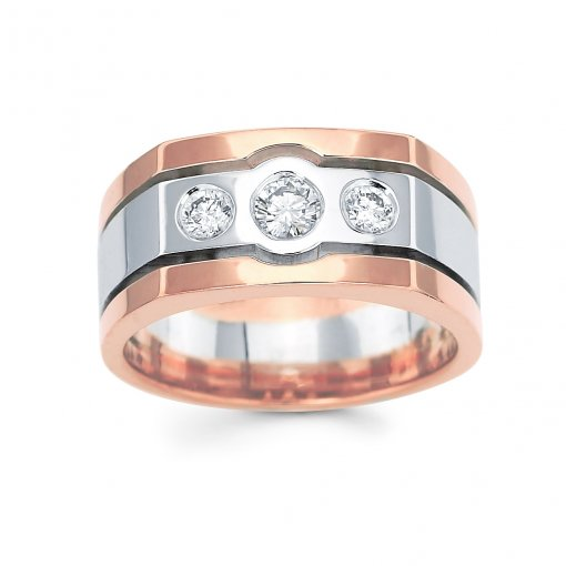 0.5ct Men's Round Diamond Band