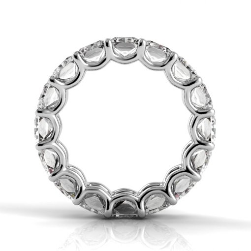 5.5 TCW Princess Diamond U-Prong Set Eternity Band in Platinum (F-G COLOR, VS2 CLARITY)