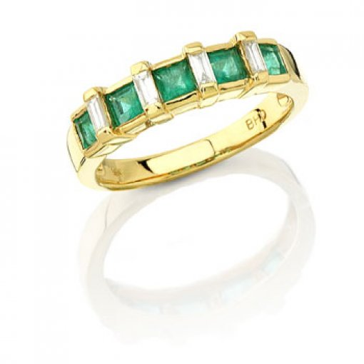 0.85CT Bullets 18K Yellow Gold Diamond Ring