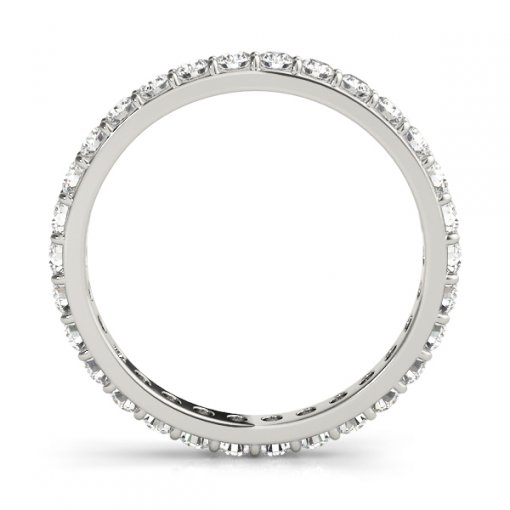 1 TCW Round Diamond Flat Prong Set Eternity Band in Platinum (G-H COLOR, VS2-SI1 CLARITY)