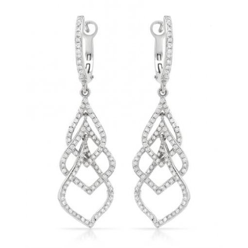 0.88CT  Round 14KW 0.88CT Tw Diamond (G-H/SI3-I1) Earrings G-H/SI3-I1 ()