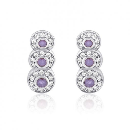 0.94CT  Round Earring (0.50 I1-I2/Hh) (0.44 Tanz Rd) / ()