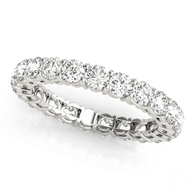 2 0 Tcw Round Diamond Open Gallery Shared G Set Eternity Band In Platinum H Color