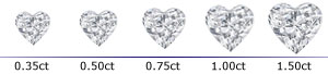 Heart Shape Cut Prong Stud Earrings Scale