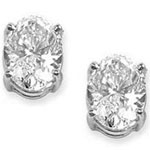 Oval Cut Prong Stud Earrings