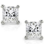 Princess Cut Prong Stud Earrings
