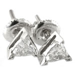 Trillion Cut Prong Stud Earrings